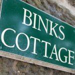 Binks Cottage sign