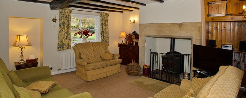 Lounge at Binks Cottage, Co Durham
