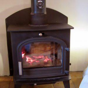 Log burner at Binks Cottage, Co Durham